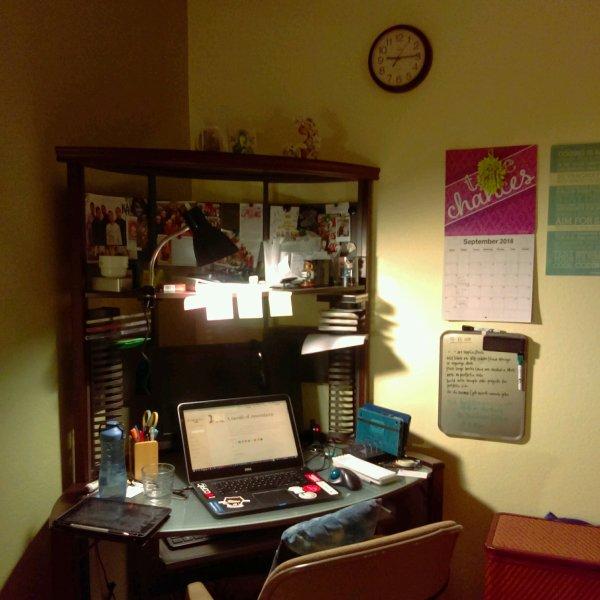 New bedroom desk