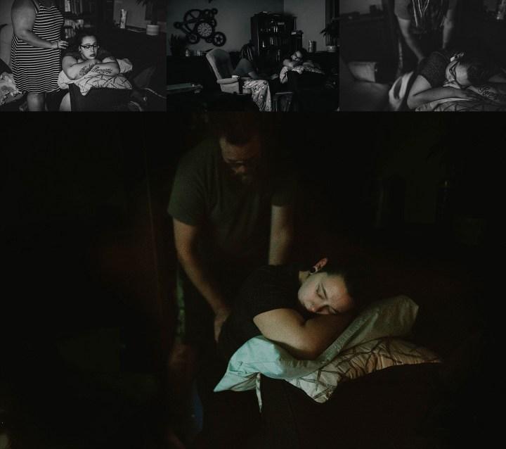 illuminated by tv home birth