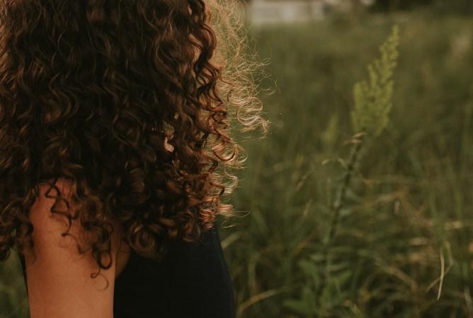 hair in golden light