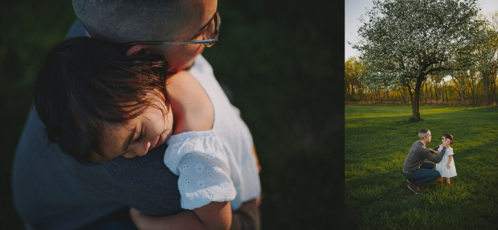 dad and daughter hugging