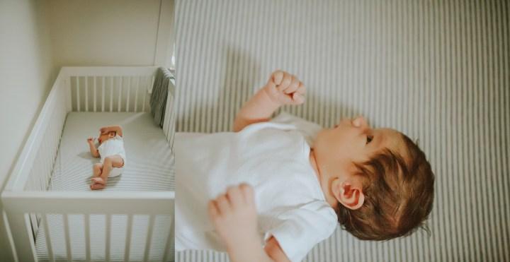 newborn baby in crib , details