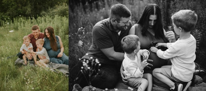 maternity images of a mom and her family