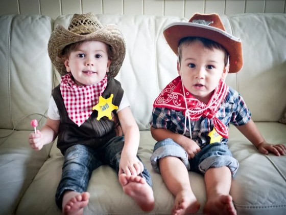 two little toddler cowboys