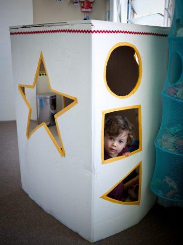 cardboard cubby house