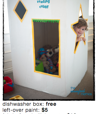 diy reading cubby house or quiet corner