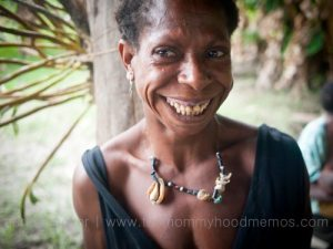 Laughing woman of Bamio, Western Province, Papua New Guinea.