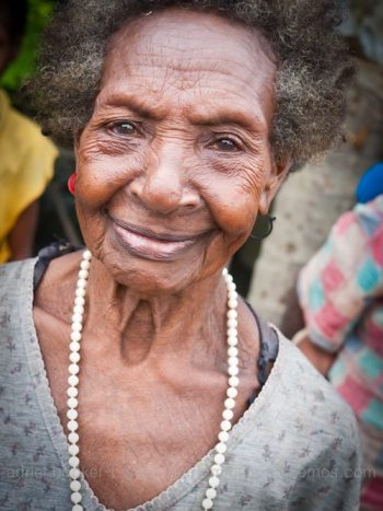 Elderly woman of Bamio, Western Province, Papua New Guinea.