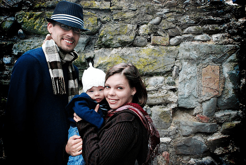 the wokabout family traveling with a baby