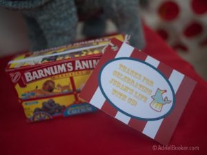Judah's First Birthday Circus Party – party favors.
