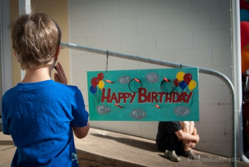 Judah's First Birthday Circus Party ring toss