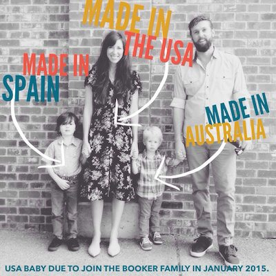 Pregnancy announcement - made in the USA