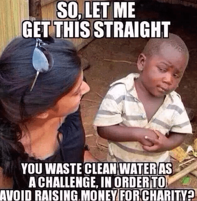 Clean water issues are ALS awareness are not at odds with one another. Let's not make them enemies.