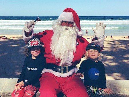 Aussie Santa at the beach