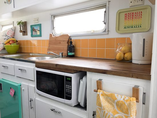 Living Small to Live Big—Tiny house life kitchen