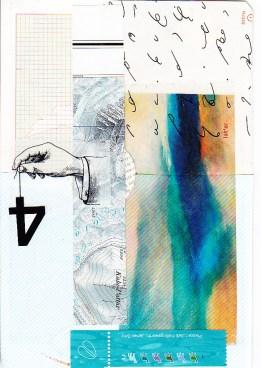 tissue paper, topo map, tape transfer, shorthand