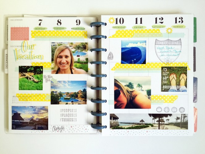 Vacation Planner Page
