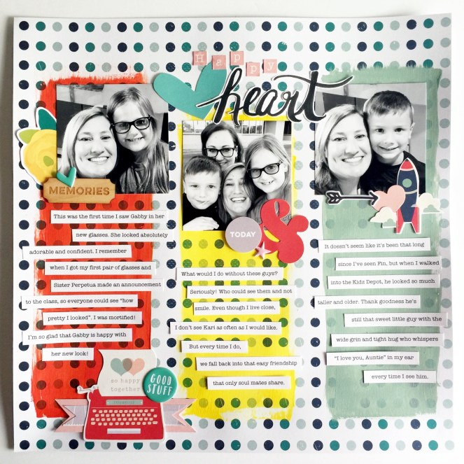 Using Brush Lettering on Your Scrapbook Layouts | adriennesinklings.com
