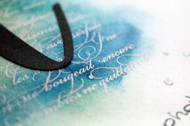 How to use heat embossing to make beautiful custom backgrounds for your scrapbook pages. adriennesinkilings.com