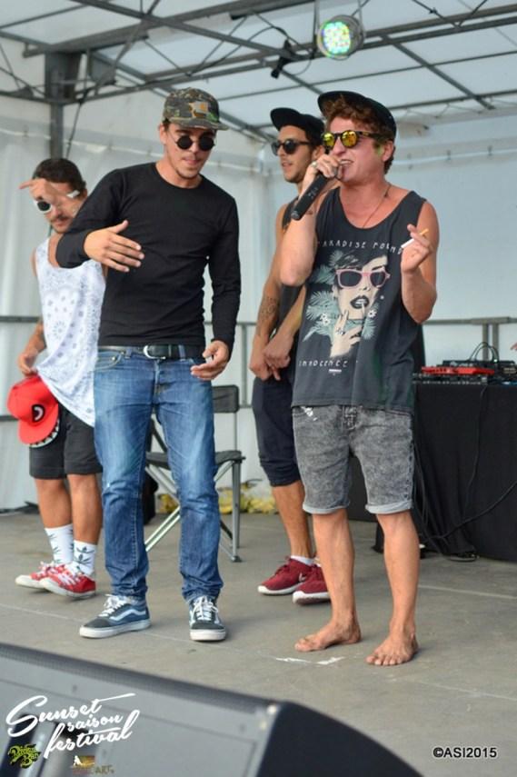 Photo Sunset saison festival 2015 l'escale tropicale ovakoum dyami jouvence tourne l'oeil rap la teste de buch photographe adrien sanchez infante bassin d'arcachon (51)