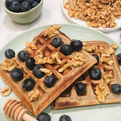 Banana & Cinnamon Waffles