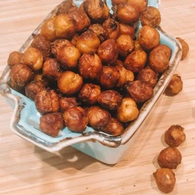 Super Crispy Harissa Chickpeas
