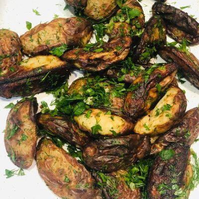 Roasted Herb & Garlic Potatoes