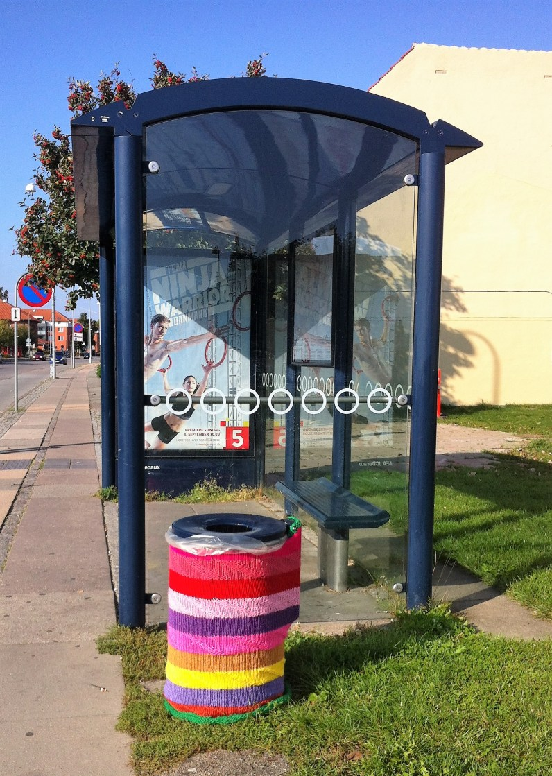 bin at the bus stop