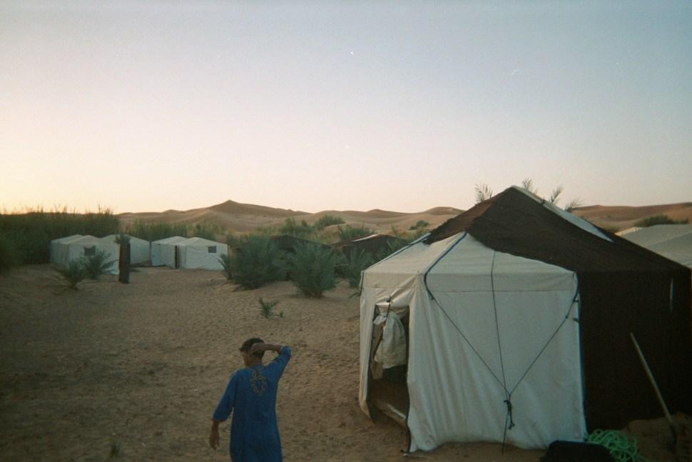 reveil au milieu des dunes