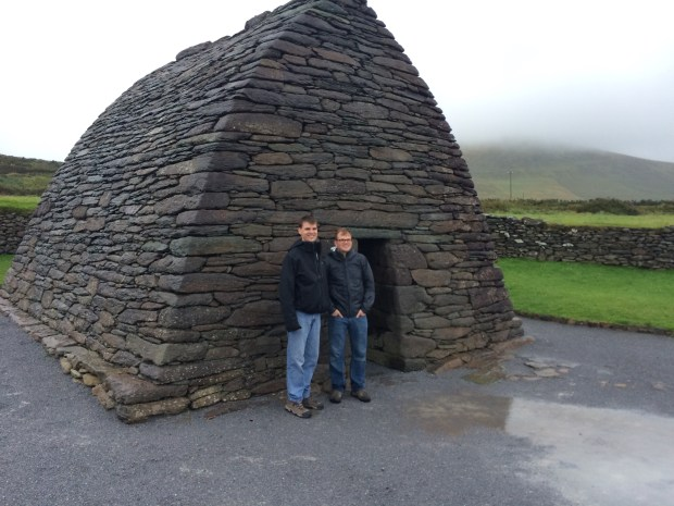 My husband and bro-in-law in front of the Gallarus Oratory.