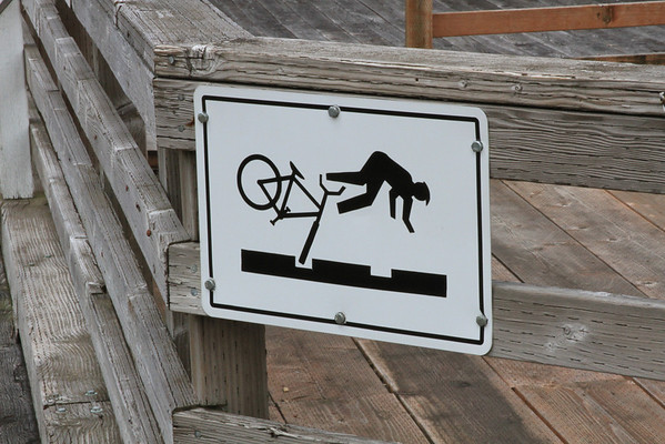 The falling cyclist sign! Ergaderp!
