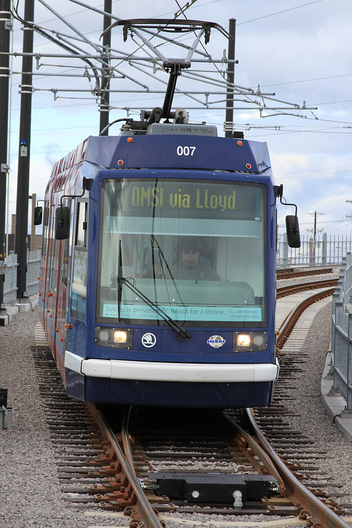 Transit Sleuth Weekly Picture (011) - Portland Streetcar at OMSI Stop