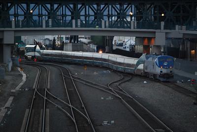 Amtrak Cascades Departing for Portland