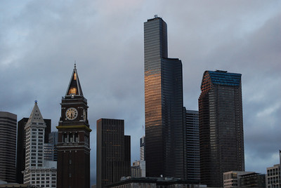 King Street Station, Once the tallest in Seattle Looking up to Columbia Tower, Now the Tallest