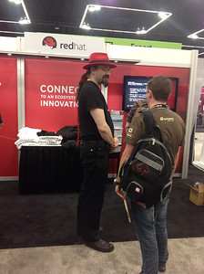 OSCON (Red Hat table)