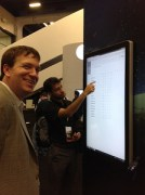 Checking out awesome new tech with Dave McCrory at VMworld