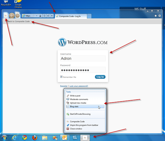 IE9 Pinning for WordPress