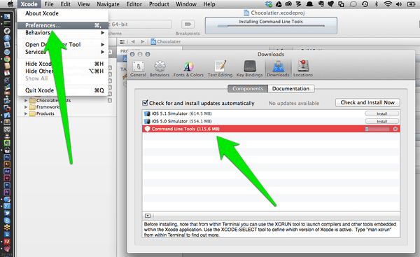 XCode CLI Tools Installation, for full size image click.