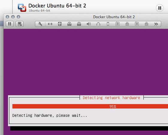 Installing Ubuntu using VMware Fusion. Click for full size image.