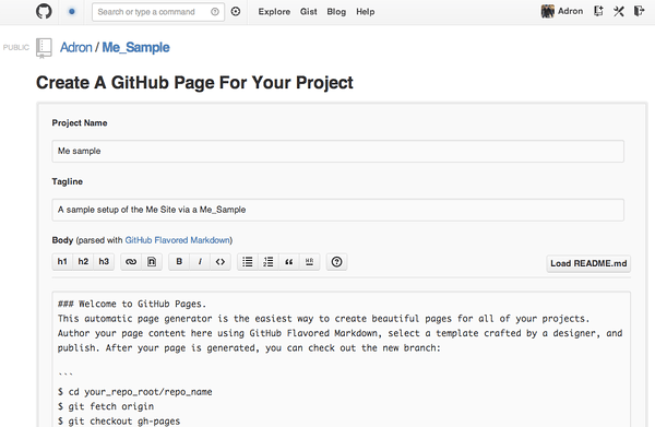Default Github Pages Project Page
