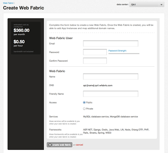 Creating a New Web Fabric