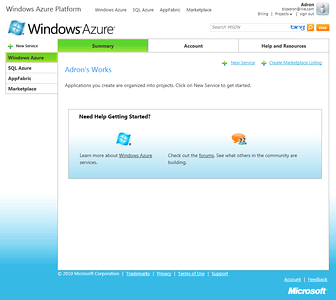 Windows Azure Project