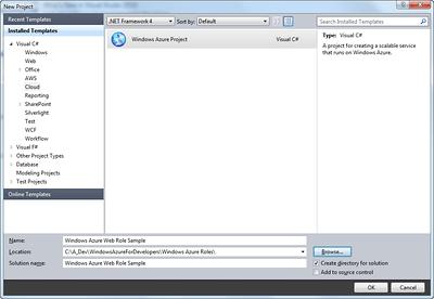 Windows Azure Project