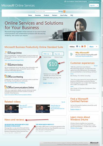 Microsoft BPOS Site Property #1