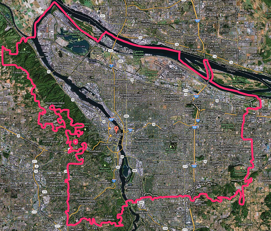 Portland again, with clearly marked border lines. Click for larger image.
