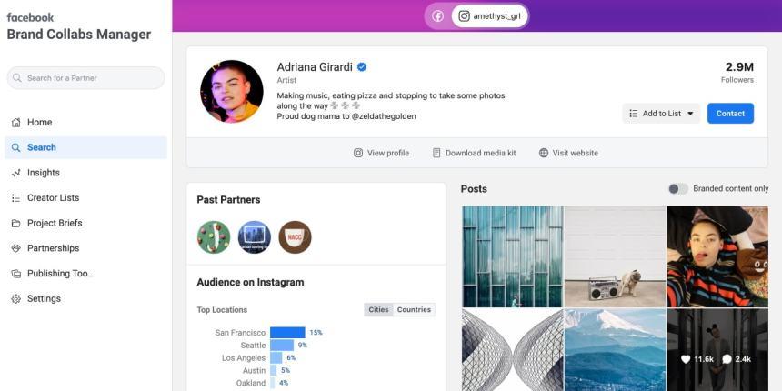 Instagram plateforme d'influence