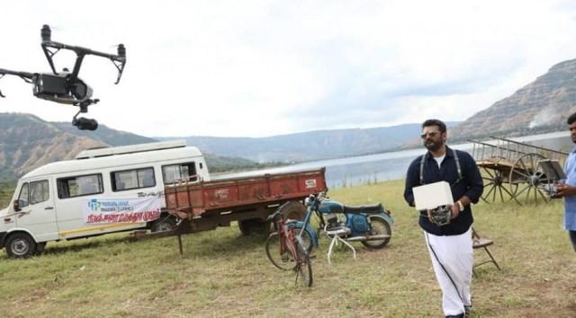 விஸ்வாசம் படப்பிடிப்பில் Drone பயன்படுத்திய அஜித்தின் புகைப்படம் 3