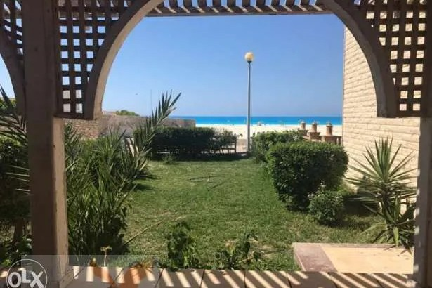 Sea view chalet at badr village north coast شاليه صف اول علي البحر