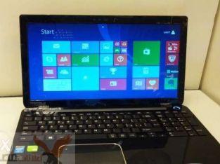 Laptop toshiba core i5 جيل رابع رام4+هارد750 vega nvidia للجيمز العالى
