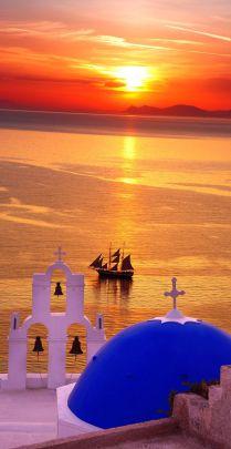 Sunset en Oia, Santorini.
