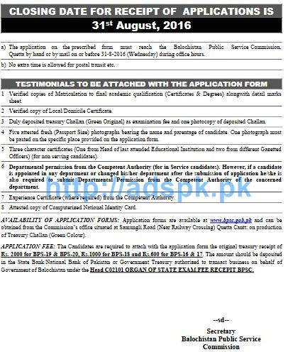 BPSC New Career Excellent Jobs Ad No. 08-2016 Jobs Syllabus Written Test for Drug Inspector Senior Registrar Statistical Officer Last Date 31-08-2016 Apply Now Page-4